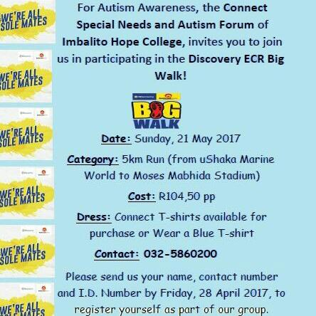 CONNECT AUTISM AWARENESS IN THE BIG WALK 2017